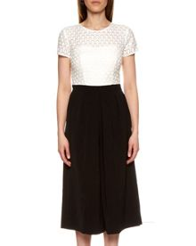 Ted Baker Brienaa Lace bodice cropped jumpsuit