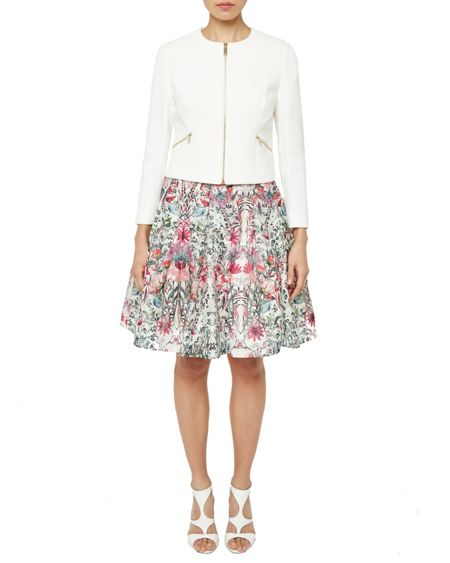 Ted Baker Halis Cropped textured gathered jacket