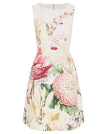Ted Baker Gemisa Encyclopedia Floral pleated dress