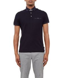 Ted Baker Dino Textured Jersey Polo Shirt