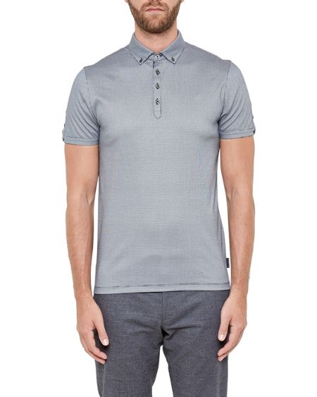 Ted Baker Angelo Geo print cotton polo shirt