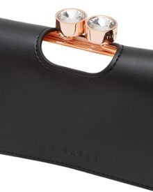 Ted Baker Marli Small leather crystal bobble purse