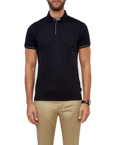 Ted Baker Sergio Zip up cotton polo
