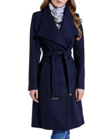 Ted Baker Lorili Long wool wrap coat