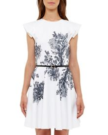 Ted Baker Yee Illustrated Elegance Skater Dress