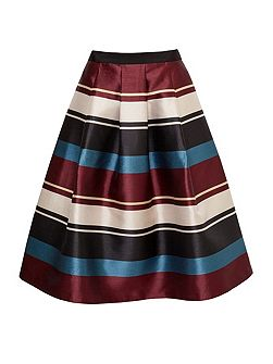 Majida Antique Stripe Full Midi Skirt