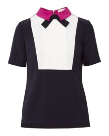 Ted Baker Lucaya Pleated Front Bow Top