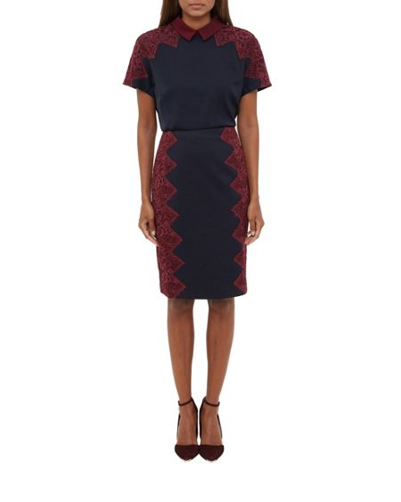 Ted Baker Queeny Scallop Lace Pencil Skirt