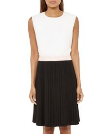 Ted Baker Glina Colour Block Pleated Dress