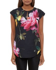 Ted Baker Nilea Citrus Bloom Dropped Hem Top