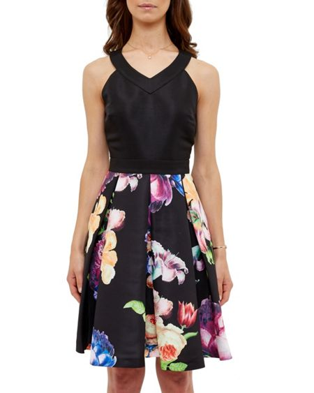 Ted Baker Illusia Tapestry Floral Pleated Dress