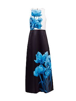 Niriah Blue Beauty Maxi Dress