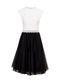 Laeci Scalloped Edge Tutu Dress