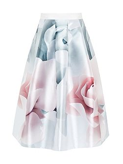 Jolana Porcelain Rose Full Midi Skirt