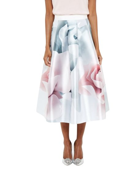 Ted Baker Jolana Porcelain Rose Full Midi Skirt