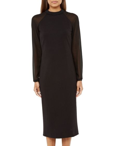Ted Baker Wrenti Sheer Midi Dress