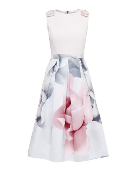 Ted Baker Riina Porcelain Rose Bow Dress
