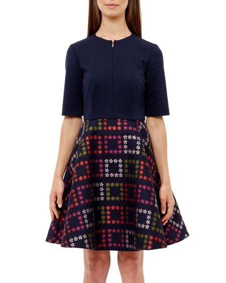 Ted Baker Qinna Horticultural Checked Dress