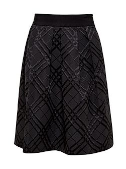 Mansii Checked Midi Skirt