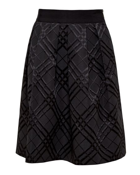 Ted Baker Mansii Checked Midi Skirt