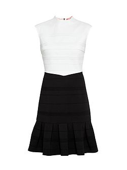 Demore Pleated Textured Dress