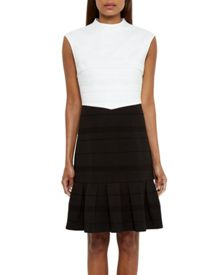 Ted Baker Demore Pleated Textured Dress