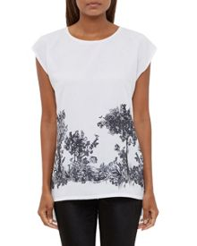 Ted Baker Zera Woodland Toile Woven T-Shirt