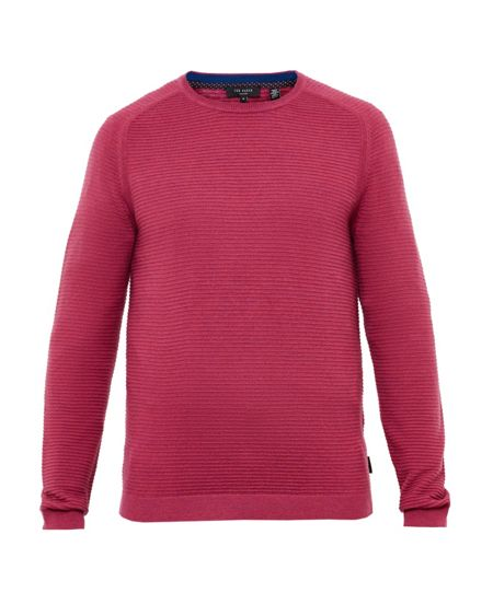 Ted Baker Potter Textured Crew Neck Jumper