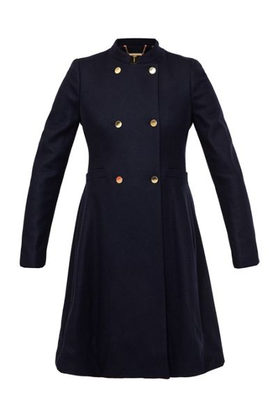 Ted Baker Indego Double Breasted Flared Coat