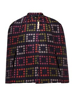 Kee Horticultural Checked Jacquard Cape