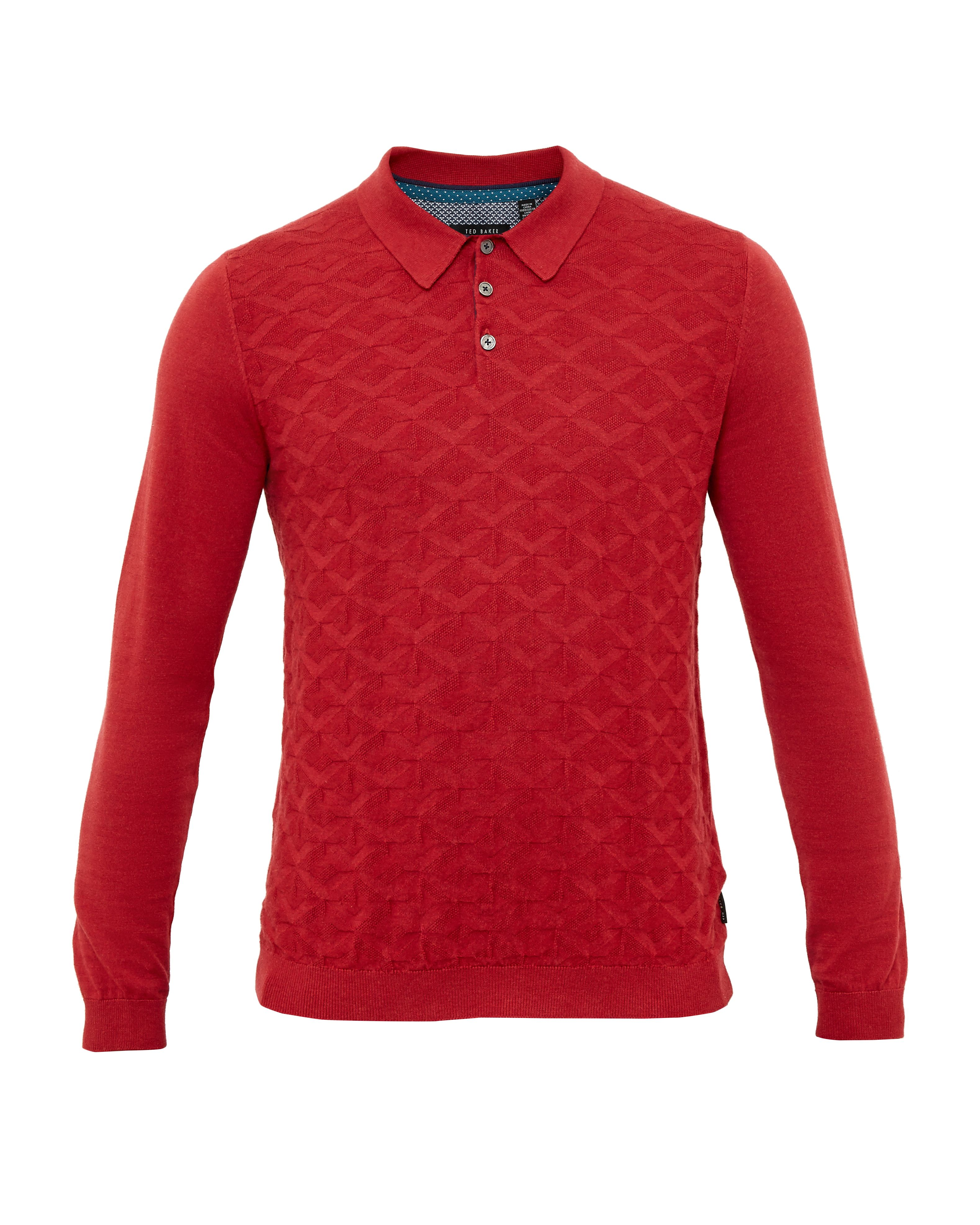 Knit mens polo shirt house of fraser for Knitted polo shirt mens