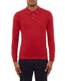 Ted Baker Electro Jacquard Knitted Polo Shirt