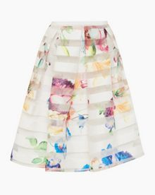 Ted Baker Hoona Tapestry Floral Burnout Skirt
