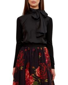 Ted Baker Babri Oversized Tie Neck Top