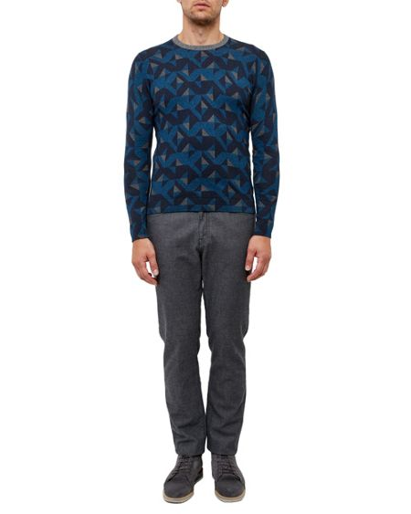 Ted Baker Malone Geo print crew neck jumper