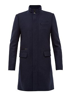 Logan Funnel Neck Overcoat