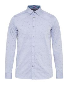 Ted Baker Iceream Geo Print fil Coupe Shirt