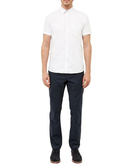 Ted Baker Gotgame cotton Dobby Shirt