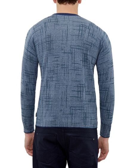 Ted Baker Monty Printed crew neck jumper