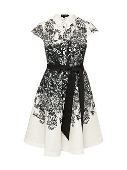 Hoppe Illustrated Collared Dress
