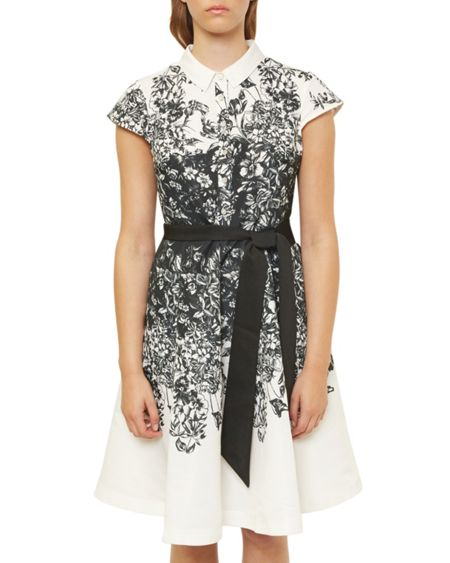 Ted Baker Hoppe Illustrated Collared Dress