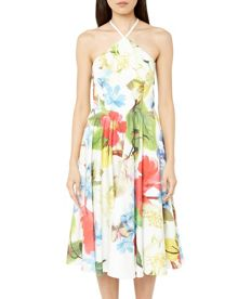 Ted Baker Corpina Forget Me Not halter neck dress