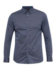 Ted Baker Lenons Geo Print Cotton Shirt