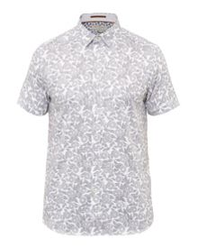 Ted Baker Bordeux Graphic floral cotton shirt