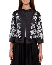 Ted Baker Abhy Embroidered collared jacket