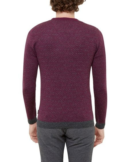 Ted Baker Brooks Jacquard Crew Neck Jumper