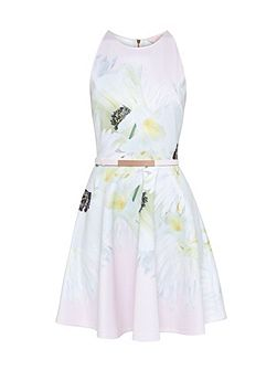 Tuliaa Pearly Petal Skater Dress