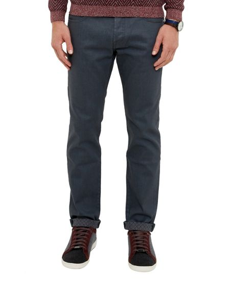 Ted Baker Social Straight fit printed hem jeans