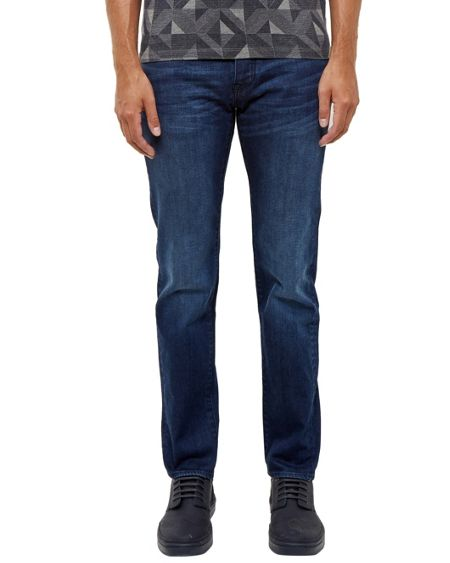 Ted Baker Simms Straight fit mid wash jeans