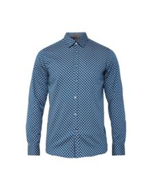 Ted Baker Timbook Hexagon Print Cotton Shirt